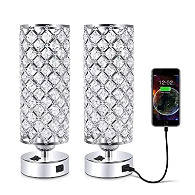 USB Crystal Table Lamp