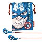 captain america ua - Avengers Captain America Noise Isolating earphones with Travel Pouch, MC-M152