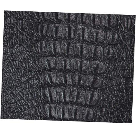 (Fabric Black Gator Faux Leather Fabric by The Yard - 54