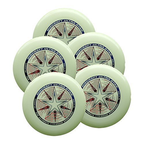 Discraft Ultra-Star 175g Ultimate Sportdisc Nite Glo (5 Pack) by Discraft