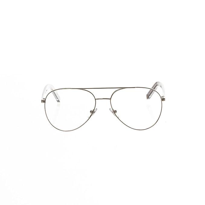 ba2cff08b1dcc Amazon.com  Retrosuperfuture Numero 34 Argento Optical Glasses (R)  Super-2CR 56 mm  Clothing