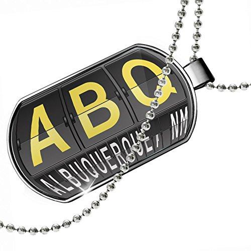 Dogtag ABQ Airport Code for Albuquerque, NM Dog tags necklace - - Shops Albuquerque Airport