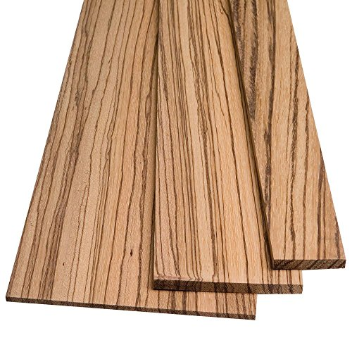 """Zebrawood by the Piece, 1/4"""" x 5"""" x 24"""", used for sale  Delivered anywhere in USA"""