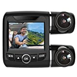 Pruveeo V68 Dash Cam Dual 1920x1080P Front and Rear, Dash Camera for Uber, Lyft, Taxis Car Driver with Capacitor