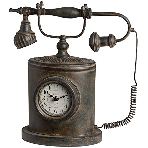 Above Antique Style Clock (Hill Interiors Antique Style Telephone Clock (One Size) (Antique)
