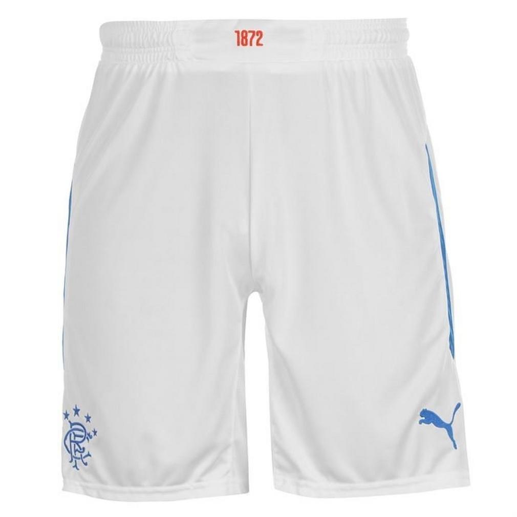 2014-2015 Rangers Home Football Shorts (White) - Kids Puma