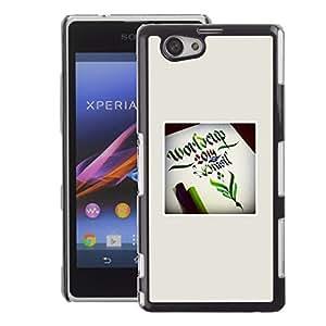 A-type Arte & diseño plástico duro Fundas Cover Cubre Hard Case Cover para Sony Xperia Z1 Compact / Z1 Mini (Not Z1) (World Cup Poster Green Fairytale Start)