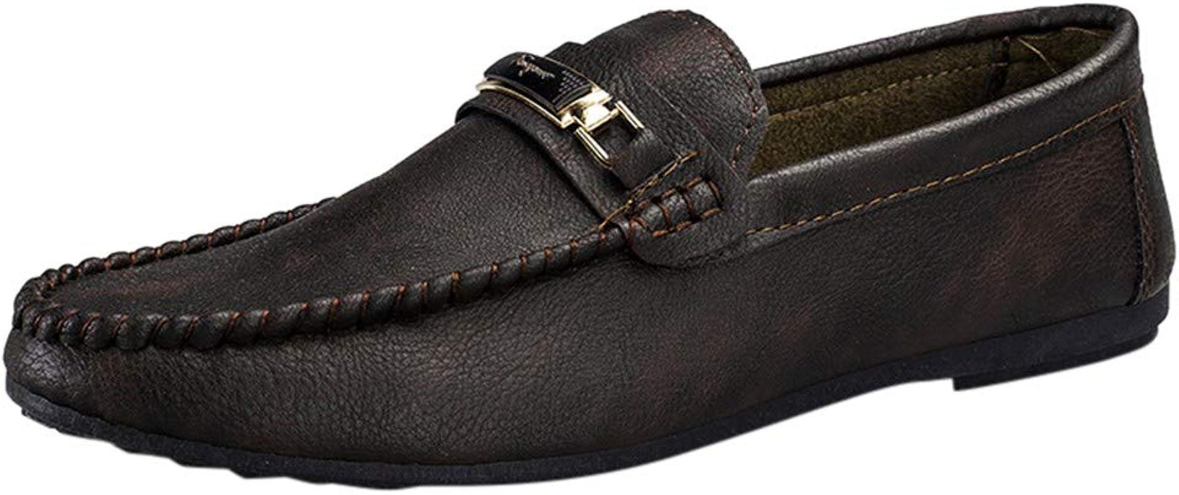 Zapatos de Piel para Hombre de Liligood Loafers, Informales ...
