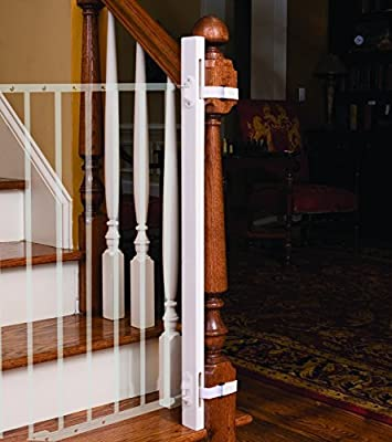 "EZ-Fit: 42"" Baby Gate Walk Thru Adapter Kit for Stairs + Child and Pet Safety - Protect Banisters + Walls - ONLY includes (1) adapter side - Please review all bullets and description prior to purchase by LPA1 that we recomend individually."