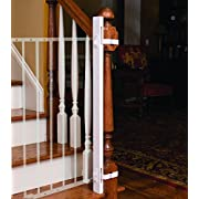 EZ-Fit: 42  Baby Gate Walk Thru Adapter Kit for Stairs + Child and Pet Safety - Protect Banisters + Walls - ONLY includes (1) adapter side - Please review all bullets and description prior to purchase