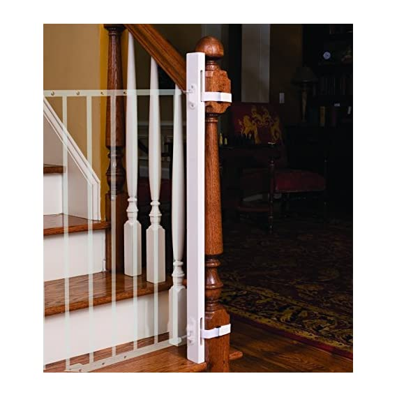 Little Partners Wood EZ-Fit Baby Safety Gate (White, 36-inch)