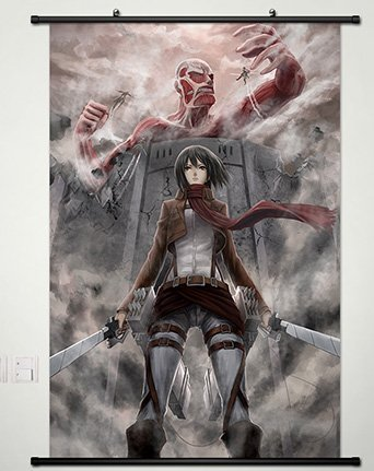 Amazon Com Wall Scroll Poster Fabric Painting For Anime Attack On