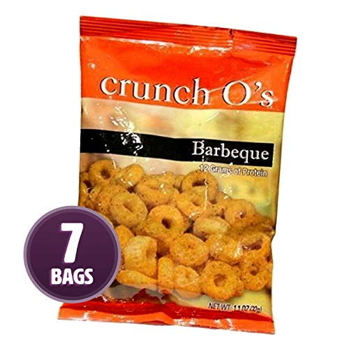Weight Loss Systems - Crunchy Snack - Barbecue Crunch O's - 7 Bags - High Protein 12g - Low Calorie - Cholesterol Free - Gluten Free - Healthy BBQ Treat