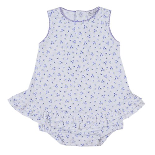 Kissy Kissy Baby-Girls Infant Little Girl's Dreams Ruffle Bubble-White With Lilac-18-24 Months - Kissy Kissy Bubble