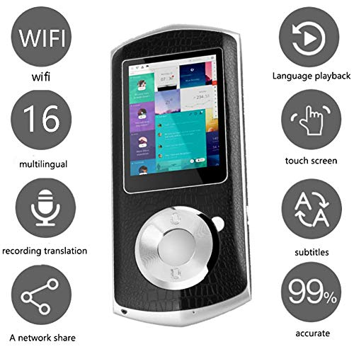 Smart Voice Translator Device with 2.4 Inch IPS Touch Screen WiFi Two Way Real Time Instant Language Translator Support 16 Languages for Learning Travel Shopping Business(Black) -