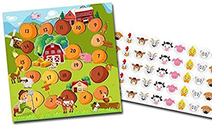 Orinal Entrenamiento Recompensa tarjeta con adhesivos en Juego de granja – Limpieza Entrenamiento Multicolor Pegatinas Niños