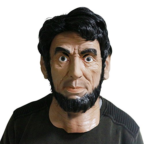 (COMLZD Realistic Human Face Latex Mask, Adult Strong Man Head Mask Costume Party)
