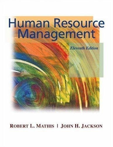 Human Resource Management By Mathis & Jackson (11th, Eleventh Edition)