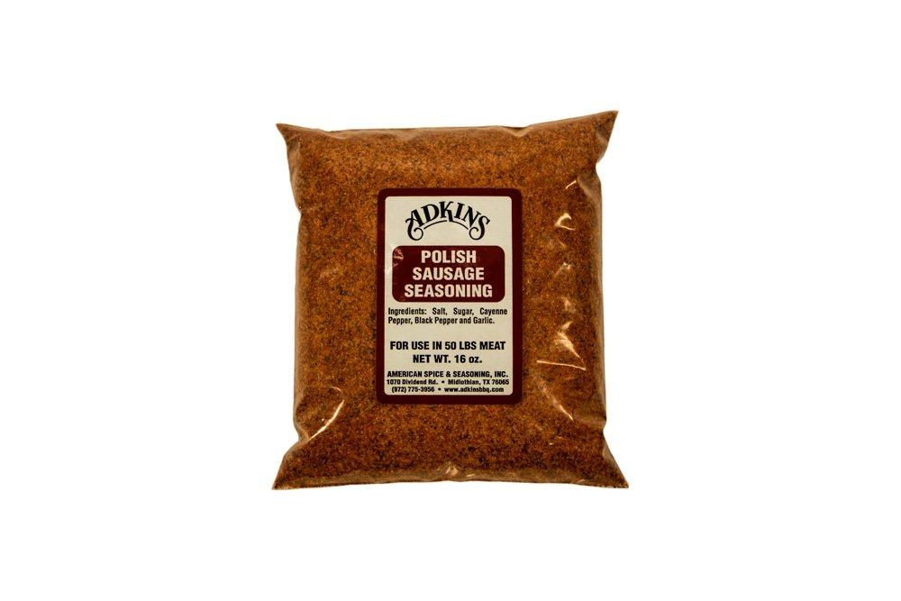 Adkins Polish Sausage Seasoning 17 OZ All Natural