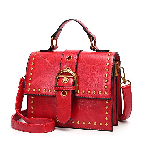 Borsa Totes Da Top Donna Red Messenger Ufficio Handle A Mini Tracolla qqrfgUp