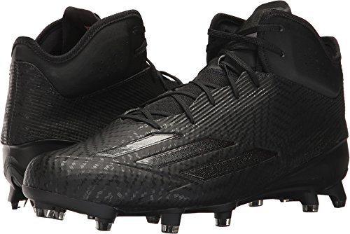 Mid Cut Cleat - adidas Men's Adizero 5-Star Mid Black/Black/Black Athletic Shoe