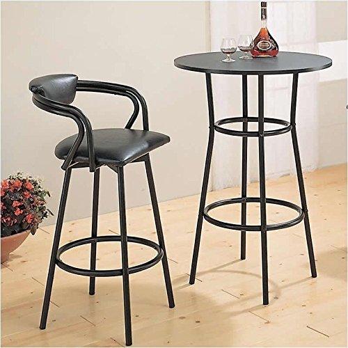 Coaster Dixie Round Metal Pub Table in Black