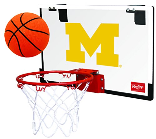 NCAA Michigan Wolverines 00673083111NCAA Game On Polycarbonate Hoop Set (All Team Options), Blue, Youth