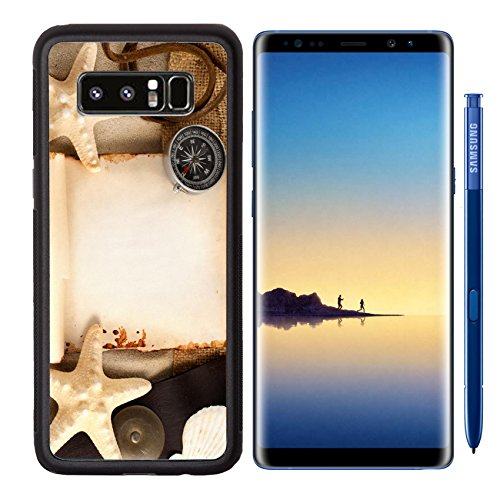 Oriental Fabric Case (MSD Premium Samsung Galaxy Note8 Aluminum Backplate Bumper Snap Case Image ID 23718541 Few marine items and sackloth fabric on a sandy background)