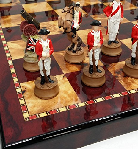 HPL American Revolutionary Independence War Chess Set W/ 18