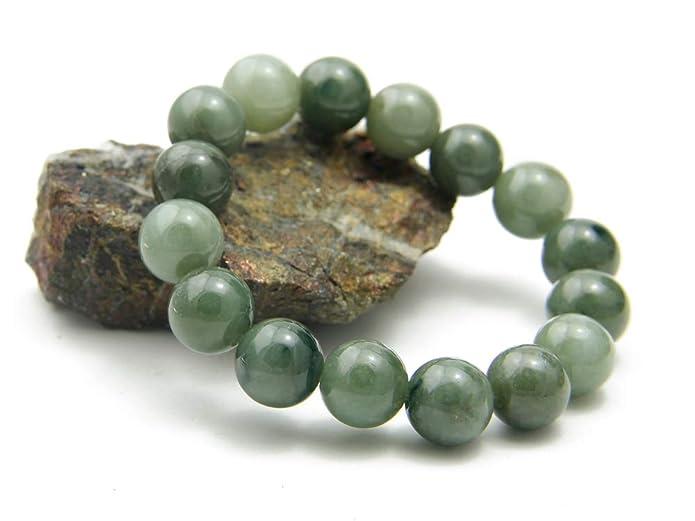 Agathe creation JBA0402014 Bracelet en Jade véritable. Perles de jade  naturelles - Porte bonheur - taille réglable - Fait main  Amazon.fr  Bijoux 7184a760c03d