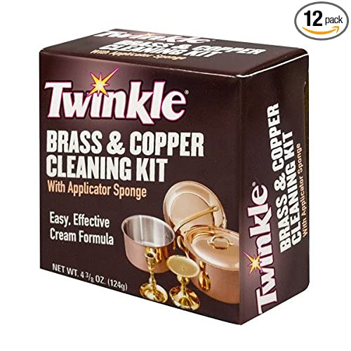 Amazon.com: Twinkle Brass & Copper Cleaning Kit, Easy Effective Cream Formula, 4 3/8-Ounce Box (Pack of 12): Health & Personal Care