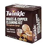 Twinkle Brass & Copper Cleaning Kit, Easy Effective Cream Formula, 4 3/8-Ounce Box (Pack of 12)