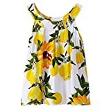 Birdfly Hot Sale 2-5T Toddler Lemon Pattern and Other 7 Pattern Dress Sundress Clearance Cheap On Sale. (4T, Yellow(41))