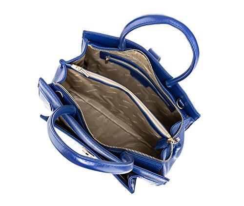 Wittchen Borsa elegante, Blu Marino - Dimensione: 23x30cm - Materiale: Pelle di grano -Accomoda A4: No - 85-4E-357-7
