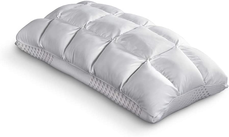PureCare Recovery SoftCell Latex Reversible Pillow, Celliant Fibers and Reversible Latex & Down Alternative Design, King (PCCELLAT723)