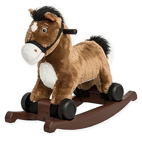 (Rockin' Rider 2-in-1 Super Fun Adorable Rocking Pony in Chocolate, Easy Convert From Rocker To A Rider, Exciting Sound, Pony's Mouth Moves, 23.5