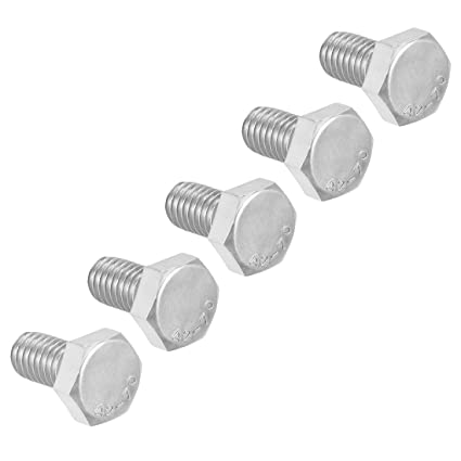 sourcing map M6 Thread 50mm 304 Stainless Steel Hex Screws Bolts Fastener 30pcs