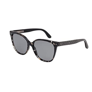b301cc109a Sunglasses Bottega Veneta BV 0044 S- 002 AVANA   GREY   GREY at Amazon  Women s Clothing store