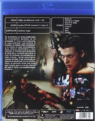 Resident Evil [Blu-ray]: Amazon.es: Anna Bolt, Joseph May, Jaymes Butler, Fiona Glascott, Milla Jovovich, Eric Mabius, Colin Salmon, Paul W. S. Anderson, Anna Bolt, Joseph May, Jeremy Bolt: Cine y Series TV