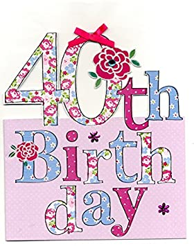 Large 40th birthday greeting card 9 x 10 cutting edge greetings large 40th birthday greeting card 9 x 10quot cutting edge greetings cards bookmarktalkfo Image collections