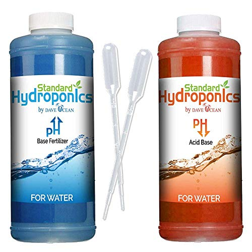 Standard Hydroponics Ph Up and Down Kit - 10 Ounce Bottle Liquid Fertilizer Nutrients Solution, Hydroponics Medium Coco Coir Even Soil (pH Up Down Kit)