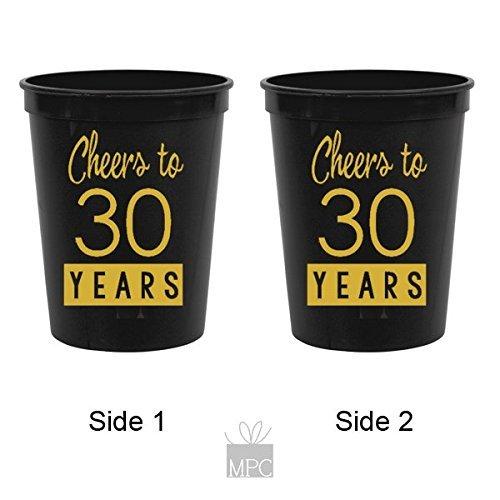 30th-birthday-black-stadium-plastic-cups-cheers-to-30-years