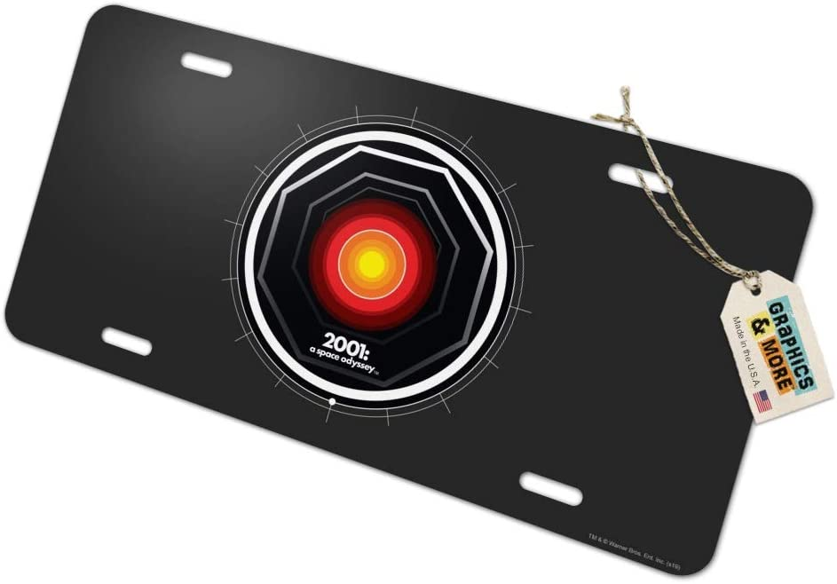 Graphics and More 2001 A Space Odyssey Hal Novelty Metal Vanity Tag License Plate