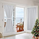 french door curtain panels  Room Darkening Patio Door Panel - Room Darkening French Door Thermal Blackout Curtain/Drape/Drapery (54 inches Width x 72 inches Length, Platinum-Greyish White, 1 Panel)
