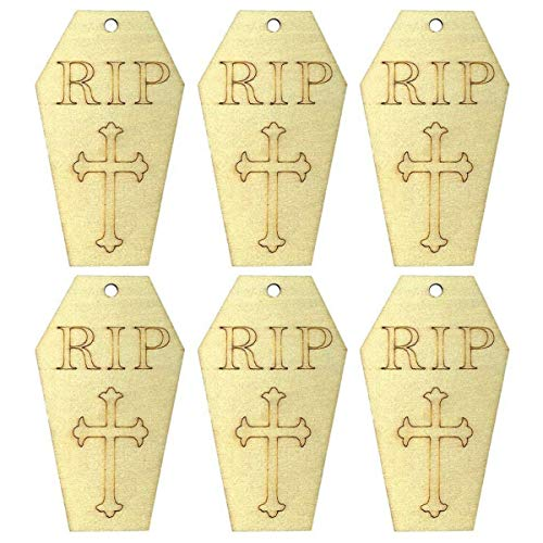 Tomb Raider 2-10pcs Wooden Halloween Tombstone Pendant Small Hangings Pendants Props Decor - Decorations Party Party Decorations Tomb Raider Lara Croft Color Tablet Brush Wind Graphic Hall]()