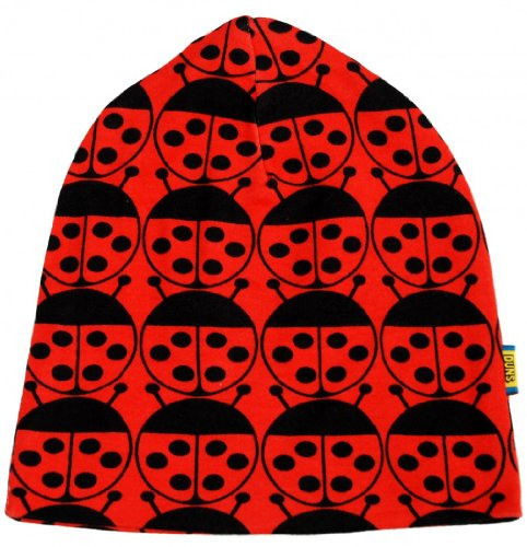 DUNS Organic Cotton Knit Red Ladybug Beanie Hat 0 to 14 Years (47 cm head 9-12 ()