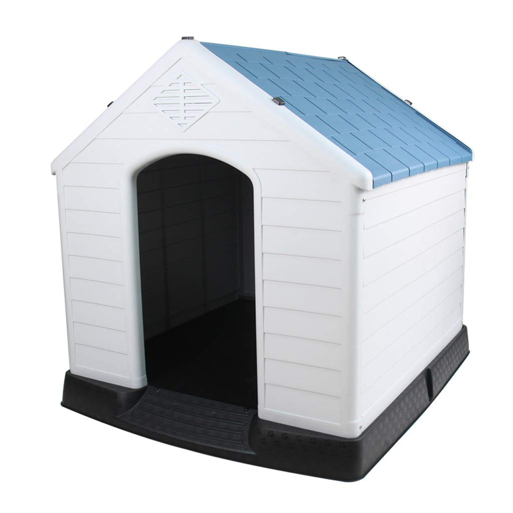 bluee LITING Kennel Pet Plastic Large Dog Autumn And Winter Dog Bed House Removable Dog House Cat Litter golden Kennel (color   bluee)