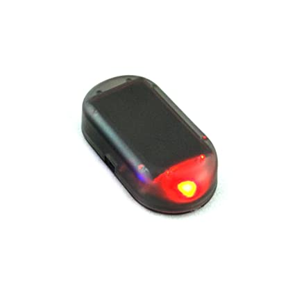 Hinmay Luz LED de alarma de coche, falsa luz solar, sistema de seguridad de advertencia de parpadeo, advertencia de robo flash parpadeante, rojo