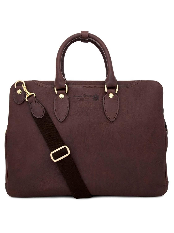 青木鞄(COMPLEX GARDENS)ビジネスバッグ メンズ 革 [義淵 ギエン No.4136] B00ENBHC0Iレッドブラウン