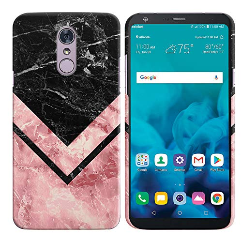 - FINCIBO Case Compatible with LG Stylo 4, Back Cover Hard Plastic Protector Case Stylish Design for LG Stylo 4 - Arrowhead Marble